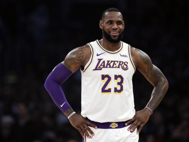 LeBron James ist der Star der Los Angeles Lakers. Foto: Marcio Jose Sanchez/AP                                 Marcio Jose Sanchez